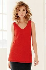NEW NEXT LADIES WOMENS RED CROCHET VEST TOP SIZE 8 RRP £20.00 2 PIECE SET TUNIC