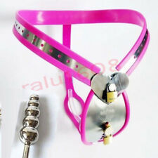 Pretty Sexy Male Chastity Belt Device Sissy New Stainless Steel Chastity Lock