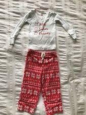 Carter's Toddler Girls Christmas 2 Piece Long Sleeve Top/Fleece Pants Pajamas 2T