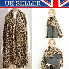 Leopard Print UK Scarf Ladies Winter Shawl Pashmina Stole Blanket Wrap Animal