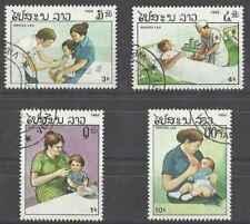 Timbres Santé Médecine Enfance Laos 672/5 o lot 25571