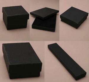 12 x Black Gift Boxes with Black Flock Inner - Wholesale/ Bulk buy