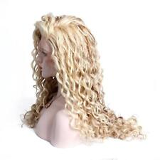 Natural Women Two Tone Ombre Highlight Blonde Curly Lace Front Hair Full NEW Wig