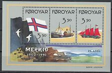 Färöer Block 4 postfrisch 50 Jahre Flagge der Färöer - Inseln
