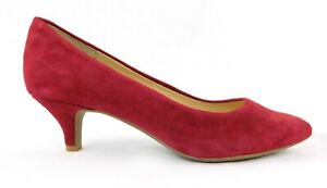 NEW Alex Marie Red Pointed Suede Leather Pumps Shoes 6 1/2 Medium Mid Heal 2""
