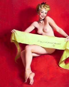 GIL ELVGREN 8x10 PINUP GIRL MATTE PRINT-Wife Neighbor Nude Bare Blonde Feet
