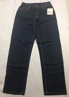 NEW ~ Womens Liz Claiborne Jeans Size 6 Wide Straight Leg Medium Wash  FREE SHIP