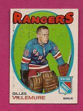 1971-72 OPC  # 18 RANGERS GILLES VILLEMURE GOALIE  CARD