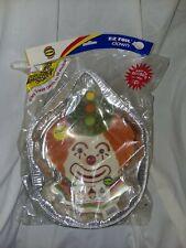 Vintage NOS betty crocker E-Z foil cake pan clown face shape