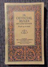 1926 THE OFFICIAL RULES of Card Games Hoyle VG+ 4.5 4th Printing Paperback