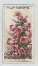 1933 Wills Garden Flowers Tobacco Base #10 Canterbury Bell Non-Sports Card 1i3