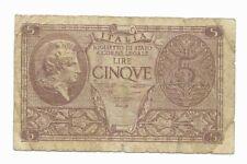 Italy 5 Lire 1944