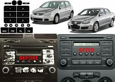 Radio Button Repair Stickers V2 2005-2009 Volkswagen Jetta Golf New Free Ship