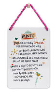 Special Auntie Inspired Words Tin Hanging Plaque Sentimental Gift Range