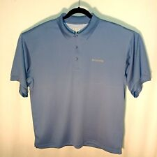 Columbia PFG Mens Blue Sz Large Vented Polo Shirt Omni Shade Fishing Outdoor