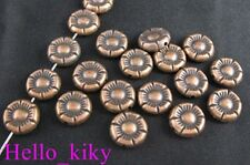 50Pcs Antiqued copper plt craft flower spacer beads A36