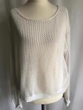 Internacionale white crotchet knit womens jumper ladies jumper size UK16-18 (21)