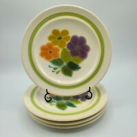 "Set of 4 Vintage 1970's FLORAL Franciscan Earthenware Salad 8 1/2"" Plates NICE"