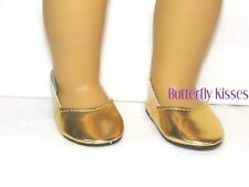 Gold Princess Shoe Slip On 18 in Doll Clothes Fits American Girl