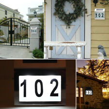 Modern Solar Powered Led Illuminated House Door Number Light house Sign Hot