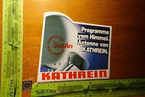 Alter Aufkleber TV Radio Satellit KATHREIN SatAn Satellitensystem