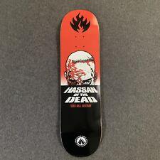 Black Label Skateboard Deck Omar Hassan Of The Dead Blue Top Skate Deck