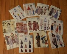 McCalls Sewing Patterns Lot of 13 see descriptions