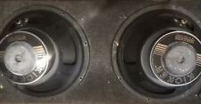 pair of C-12 first gen gold letter 12 inch kicker competitions. 4 ohm old school