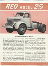 REO MODEL 25 TRUCK LORRY USA SALES BROCHURE LATE 40's.