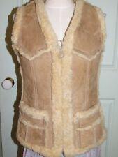 Vintage Australian Shearling Sheepskin Vest Western Biker Coat Jacket Size 12