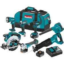 Makita Power Tool Cordless Combo Kit 18 Volt Lxt Lithium Ion Brushed 7 Piece