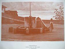 stampa antica Castelli Romani GROTTAFERRATA FONTANA ABBEY ABBAZIA DISCOVOLO 1904