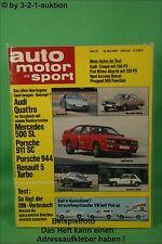 AMS Auto Motor Sport 10/82 * Audi GT 5E Ritmo Abarth 105 TC Audi Quattro