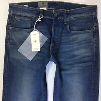BNWT MENS G-STAR 3301 LOOSE FIT FADED BLUE JEANS SIZE W30  L32 (725e)