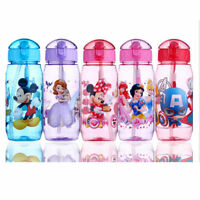 Baby Kids Children School Drinking Water Straw Bottle Sippy Suction Cup