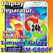 Samsung Galaxy S5 Mini SM-G800F Frontglas Glas Displayglas Reparatur Schwarz