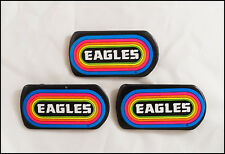 The Eagles 80's Lot Of 3 Klos Los Angeles Radio Rainbow Promo Buttons Pins