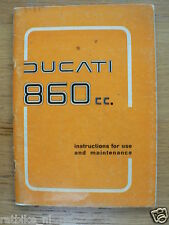 DUCATI 860 CC INSTRUCTIONS FOR USE AND MAINTANCE 1975 ORIGINAL BOOK