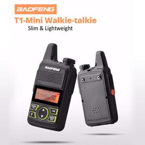 Baofeng BF-T1 Mini Walkie Talkie FM Ham radio Portatile a due vie UHF 400-470Mhz