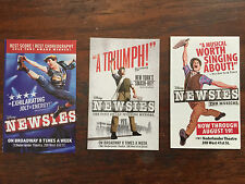 Disney Newsies musical mini ad/flyers NYC Broadway Jeremy Jordan of Supergirl