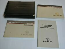 1998 LEXUS LS 400 OWNERS MANUAL GUIDE BOOK SET WITH CASE OEM