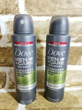 2 NEW! Dove Men+Care Elements Antiperspirant Dry Spray Minerals Sage 3.8oz.