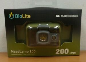 BioLite USB Rechargeable HeadLamp 200 Green Head Light BRAND NEW