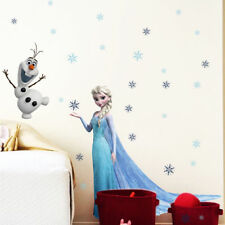 Frozen Princess Elsa Olf Snowflakes Mural Wall Sticker for Girls Kids Room Decor