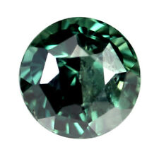 Certified Natural Teal Sapphire 1.10ct SI Clarity 5.59mm Round Madagascar Gem