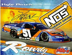 Kyle Busch Signed NASCAR NOS Energy Drink Promo 8.5x11 Photo