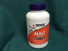 NOW NAC 600 mg 250 Veg Caps Free Radical Protection 4/2023 Selenium & Molybdenum