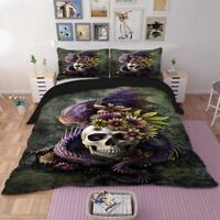 Dragon Bedding 3D Skull Set Red Duvet Cover Bed Set Single Twin Queen King Size