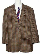 Men's Burberry Blazer Wool Brown Country Check Size 47 R