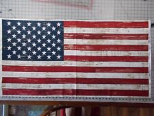 "American Flag Fabric Panel Timeless Treasures 23"" x 44"" Patriotic Panel"